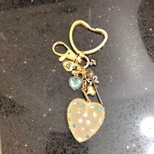 Betsy Johnson Key Ring.